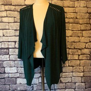 Chico's Travelers NWT Size XL Green Cardigan